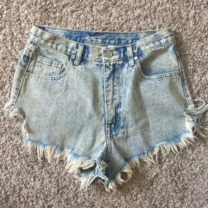 UNIF distressed high waisted shorts